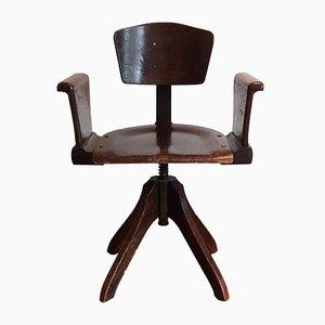 Art Deco Wooden Desk Chair