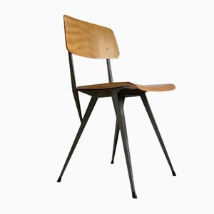 Plywood and Steel Side Chair in the Style of Rietveld, 1960s