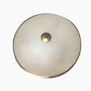 Lámpara de techo italiana Mid-Century de vidrio, años 50