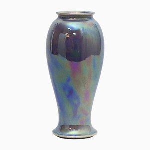 High Lustre Lilac Glaze Baluster Art Vase from Ruskin Pottery, 1922
