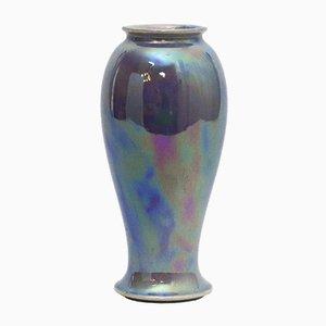 Hochglanz Lackierte Baluster Glasvase von Ruskin Pottery, 1922