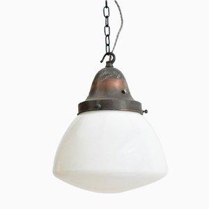 Opaline Glass Church Ceiling Lamp, 1920s