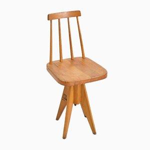 Mid-Century Light Swivel Desk Chair, 1950s
