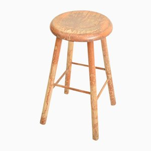 Vintage French School Stool, 1960s