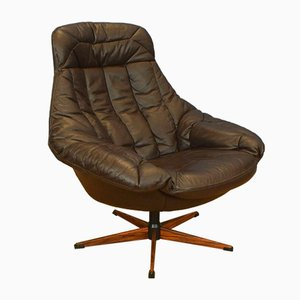 Mid-Century Danish Rosewood Swivel Silhouette Chair from Bramin, 1970s