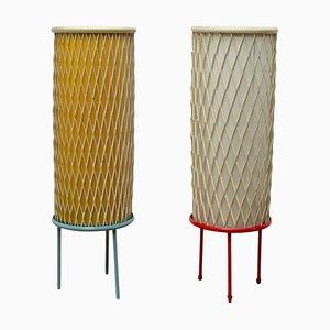 Lampes de Bureau Rocket Mid-Century Tchèque par Josef Hurka pour Napako, 1960s, Set de 2
