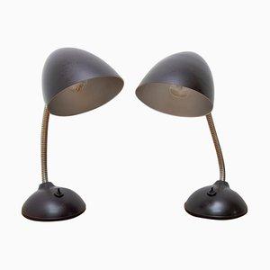 Mid-Century Table Lamps by Erik Kirkham Cole for Elektrosvit, 1940s, Set of 2