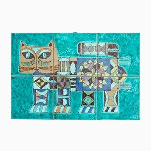 Dekorative Keramikplatte für Katzenliebhaber