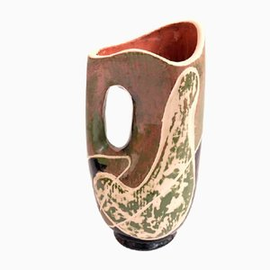 French Ceramic Vase in the Style of Le Corbusier, 1960s