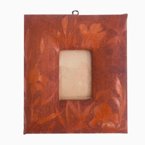Leather Flower Frame