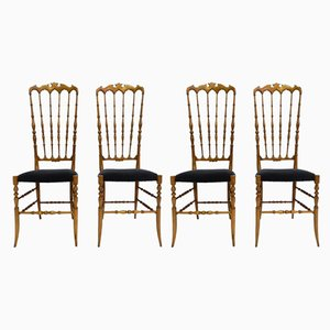Model Alta Chairs by Gaetano Descalzi for Chiavari Campanino, 1950s, Set of 4