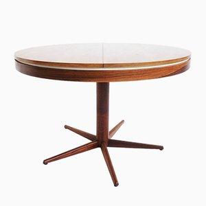 Tavolo da pranzo in legno laminato bianco e allungabile in legno, anni '60
