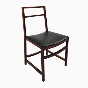 Sedie architettoniche in mogano di Renato Venturi per MIM, Italia, 1961, set di 8