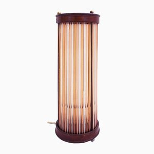 Art Deco Striped Colored Glass Table Light, 1930s