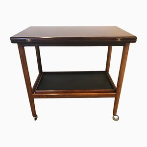 Vintage Rosewood Trolley by Grete Jalk for Poul Jeppesens Møbelfabrik, 1970s
