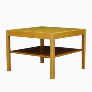 Tavolino da caffè impiallacciato in frassino di Hans J. Wegner per Andreas Tuck, anni '60