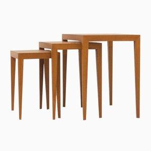 Tables Gigognes par Severin Hansen pour Haslev Møbelsnedkeri, 1960s