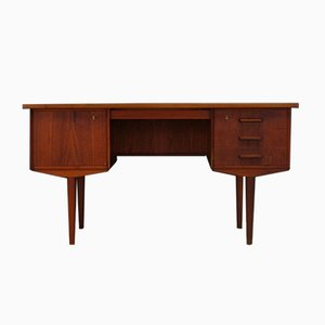 Vintage Scandinavian Teak Veneer Writing Desk, 1960s