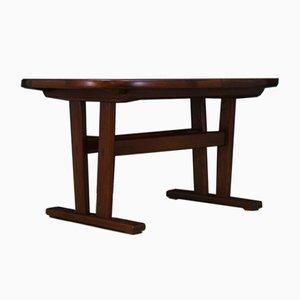Vintage Danish Rosewood Veneer Dining Table, 1960s