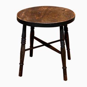 19th Century English Elm Side Table