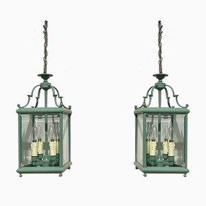 Vintage English Lantern Ceiling Lamp, 1980s
