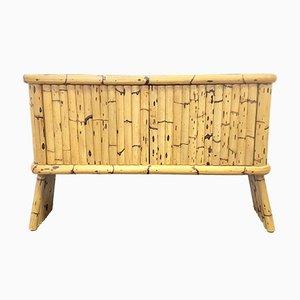 Französisches Mid-Century Sideboard aus Bambus und Keramik mit Keramikfliesen, 1950er