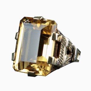 Vintage Gelbgold und Zitrin Ring
