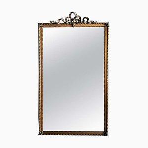 Antique Louis XVI Style French Giltwood Mirror, 1870s