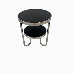 Vintage Loop Tisch im Bauhaus Stil mit Linoleum beschichteten Platten