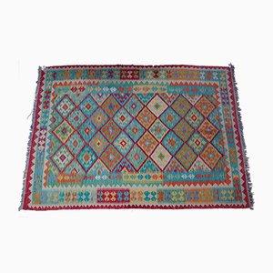 Antique Afghan Dyed Kilim Carpet