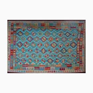 Vintage Afghan Dyed Kilim Carpet