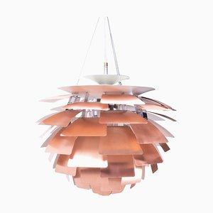 Lampada da soffitto Artichoke vintage in rame di Poul Henningsen per Louis Poulsen, anni '90