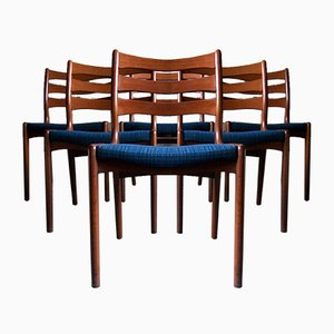 Mid-Century Danish Teak Dining Chairs by Erik Buch, 1960s, Set of 6