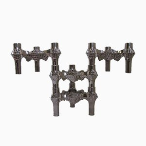 Brutalist German Candleholders, 1960s, Set of 4
