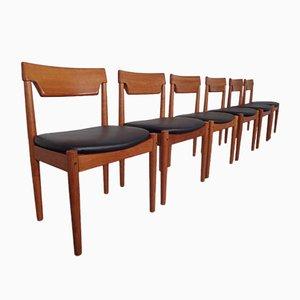 Dänische Teak Esszimmerstühle von Glostrup, 1960er, 6er Set