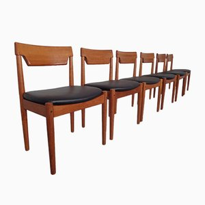 Danish Solid Teak Dining Chairs from Glostrup, 1960s, Set of 6