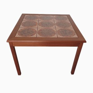 Danish Ceramic and Teak Coffee Table, 1960s