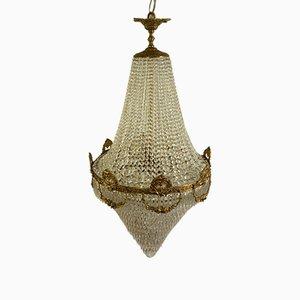 Lámpara de araña estilo imperial vintage grande, años 60