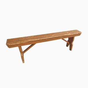 Vintage Wooden Bench, 1930s