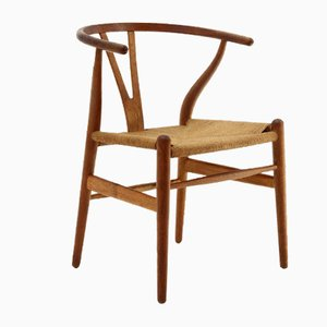 Durmast Modell Wishbone Stuhl von Hans J. Wegner für Carl Hansen & Søn, 1960er