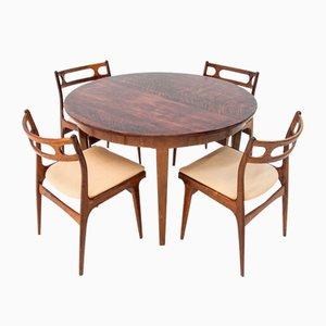 Table de Salle à Manger & Chaises en Palissandre par Johannes Andersen, 1960s, Set de 5