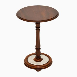 Antique William IV Mahogany and Marble Side Table