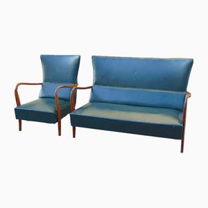 Mid-Century Living Room Set, Set of 2