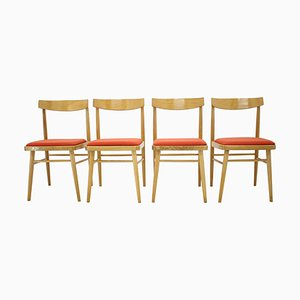 Mid-Century Czechoslovak Dining Chairs, 1970s, Set of 4