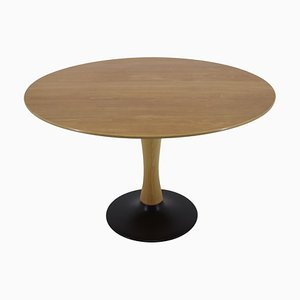 Czechoslovak Round Beech Dining Table, 1970s