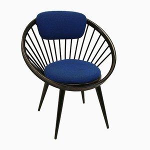 Schwarzer Vintage Circle Chair von Yngve Ekstrom für Swedese Meubel, 1960er