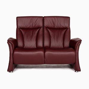 Rotes 2-Sitzer Sofa aus Trapeze Leder von Himolla