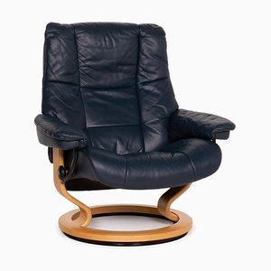 Blue Leather Relax Armchair from Stressless