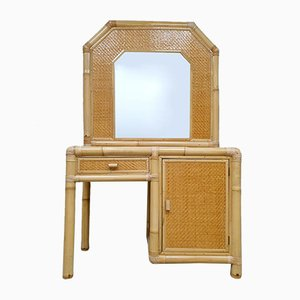 Vintage Faux Bamboo Dressing Table, 1980s