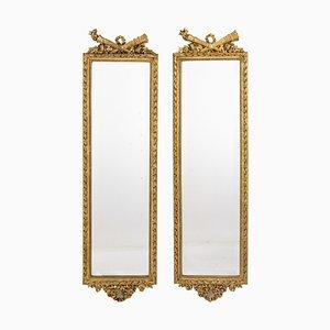 Louis XVI Stil Spiegel mit vergoldetem Holzrahmen, 1880er, 2er Set